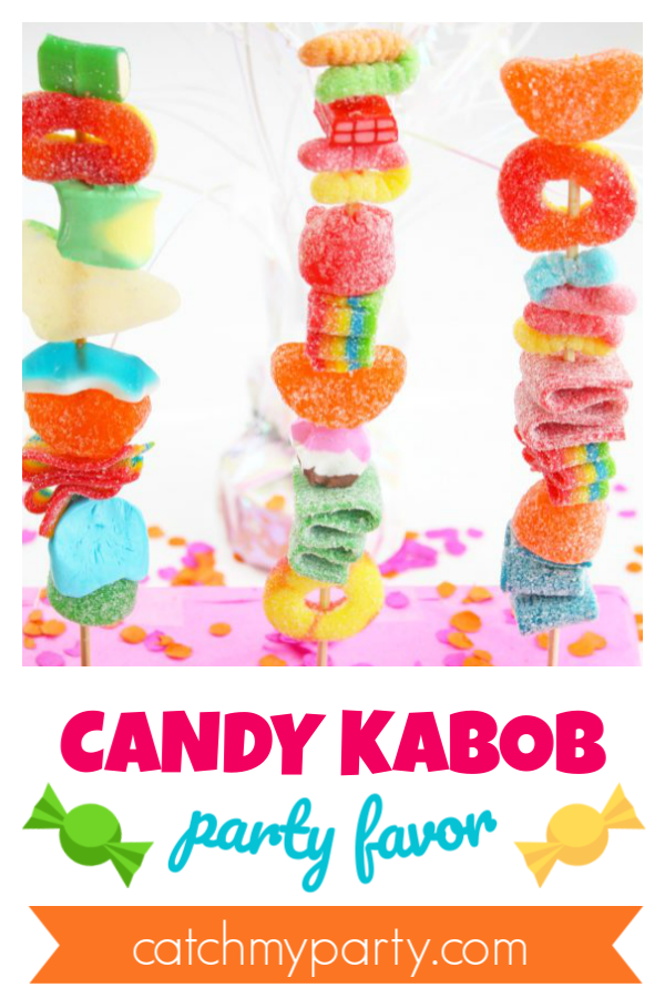 Make a Quick and Easy Candy Kabob Party Favor DIY!