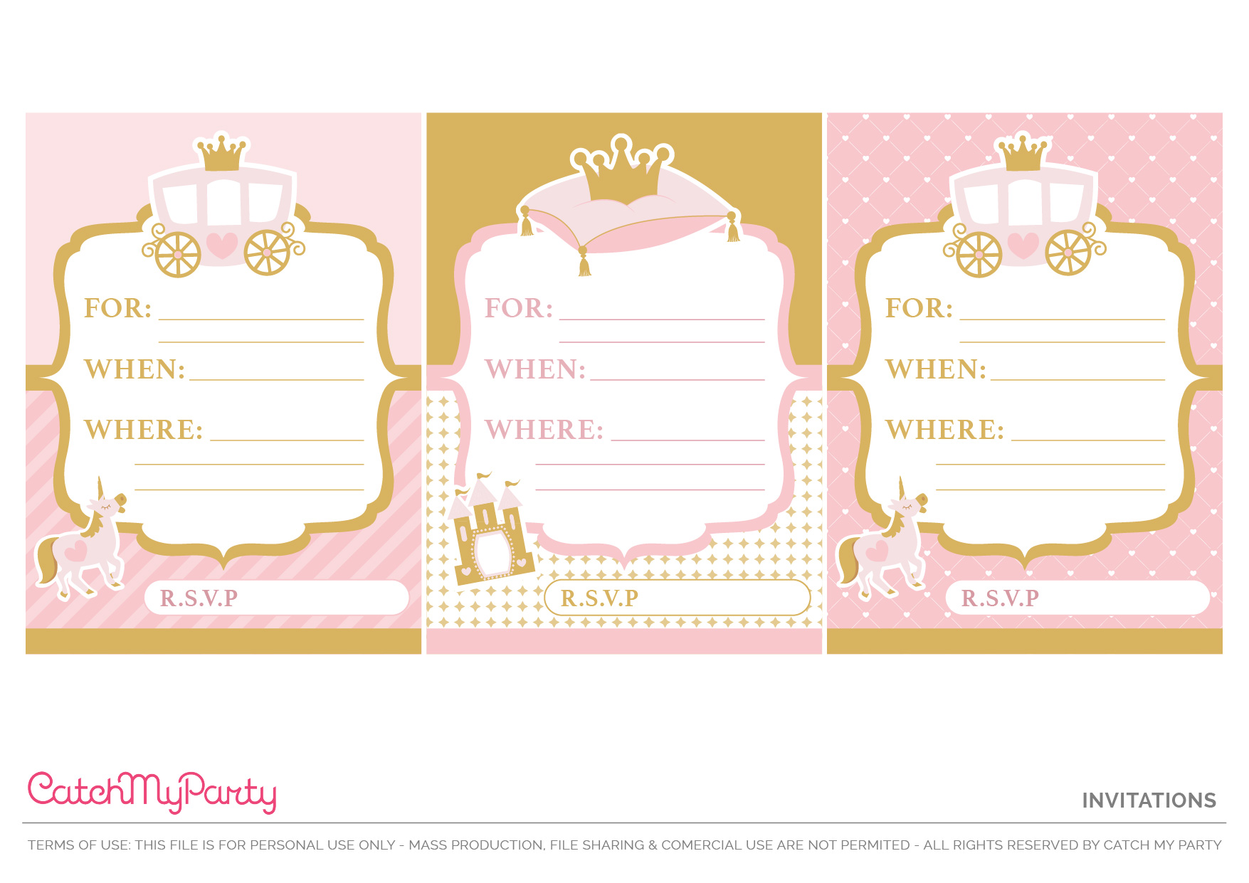 Download The Prettiest Free Little Princess Party Printables Catch My Party