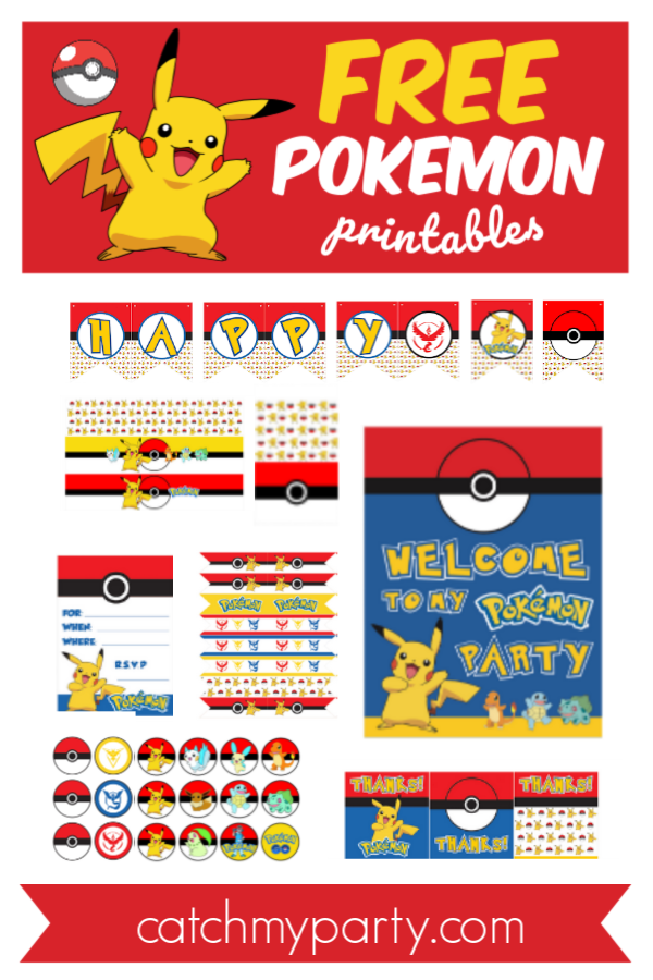 Download These FREE Pokemon Printables NOW!