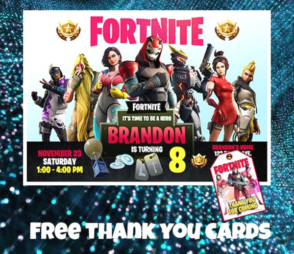 Fortnite Season 9 Party Invitation