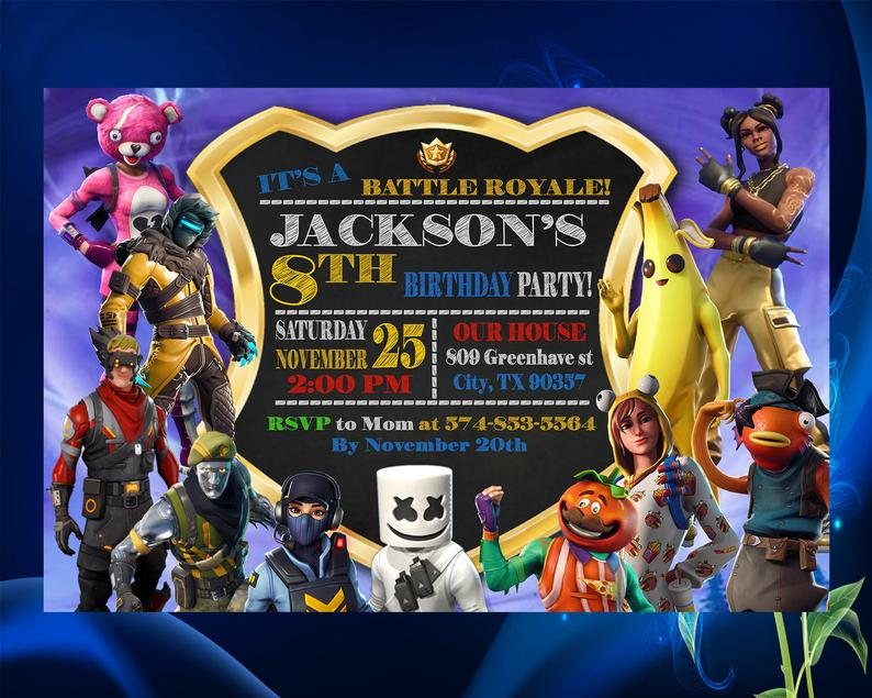 Fortnite Character Party Invitation