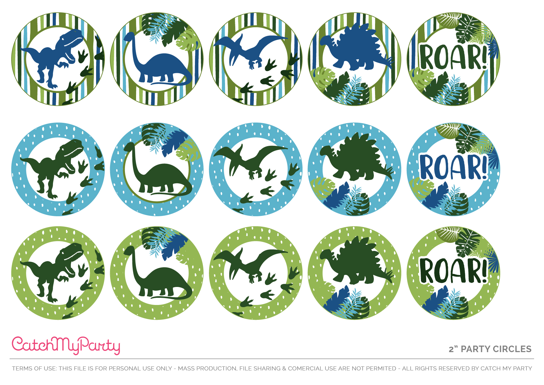 Download These Free Dinosaur Party Printables - Party circles