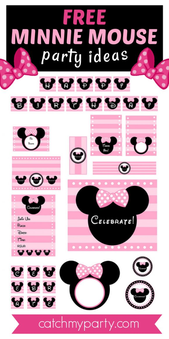 Download These Free Pink Minnie Mouse Party Printables