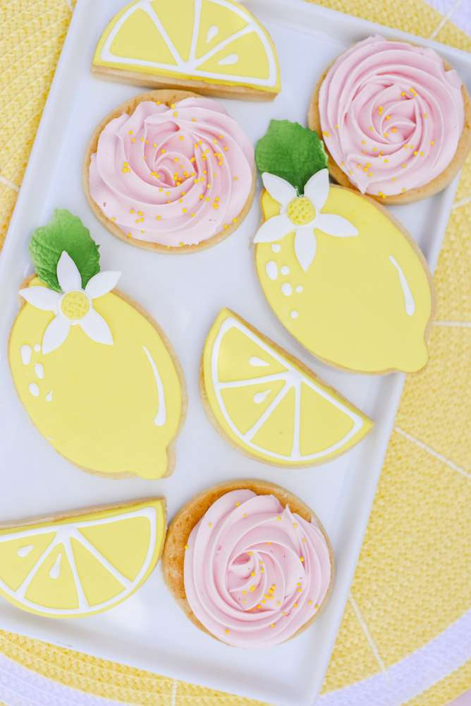 Wonderful lemon cookies at a Lemonade Stand birthday party
