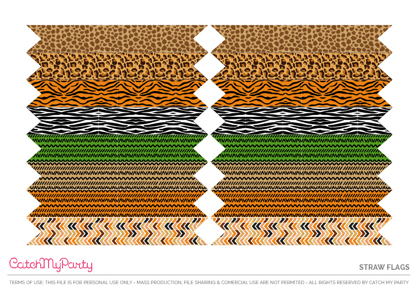 Download These Free Jungle Safari Printables Now - Straw Flags