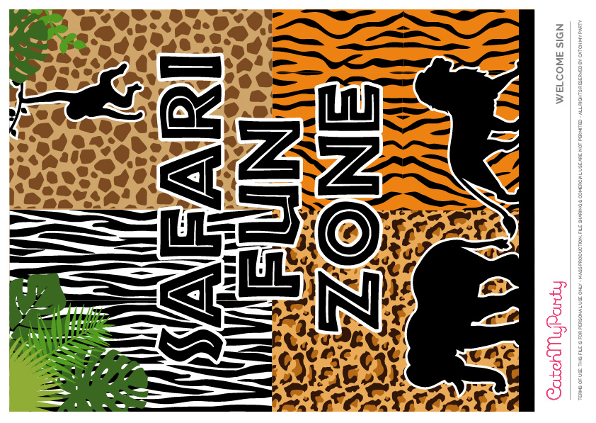Download These Free Jungle Safari Printables Now - Welcome Sign