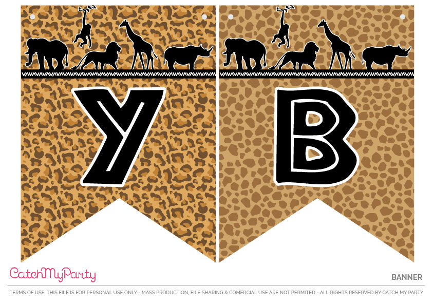 Download These Free Jungle Safari Printables Now - Banner