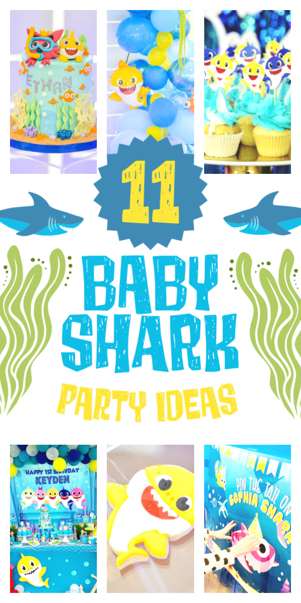 Collage of Baby Shark Party Ideas