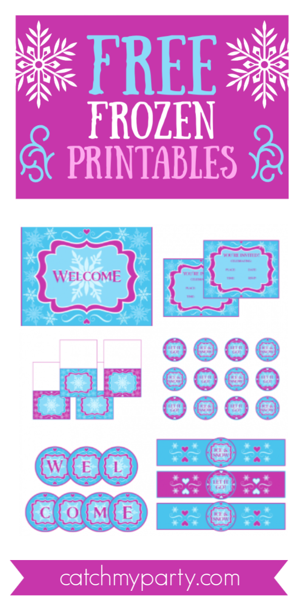 Collage of Free Frozen Printables