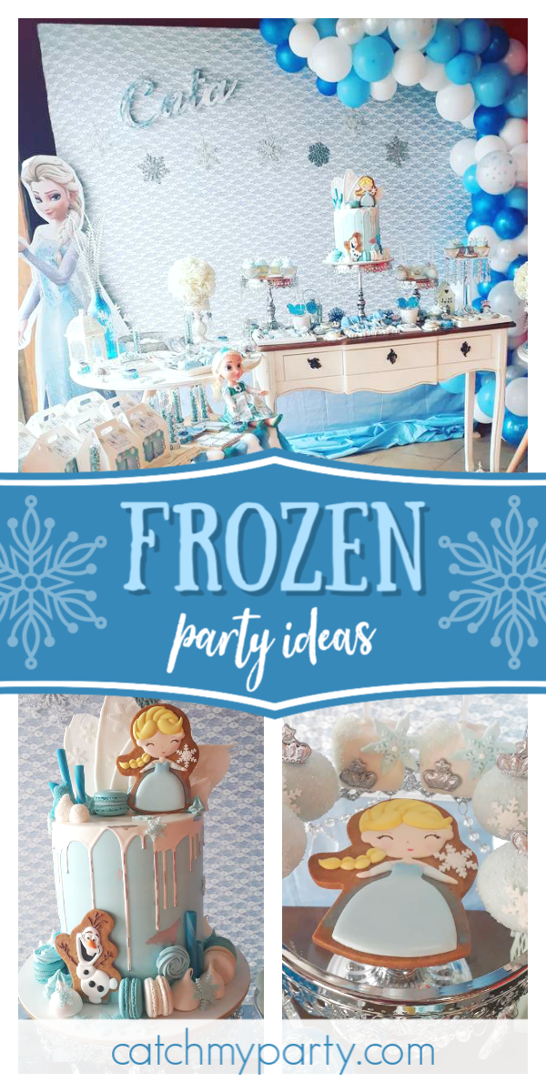Collage of an Adorable Frozen Birthday Party
