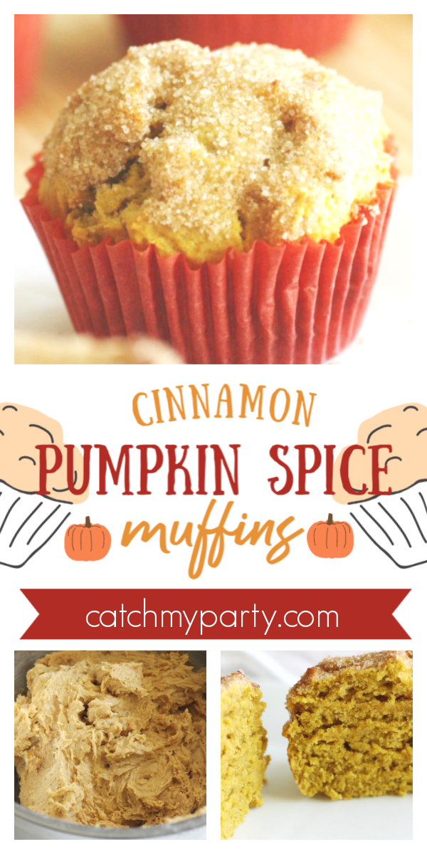 Collage of a Cinnamon Pumpkin Spice Muffin Recipe