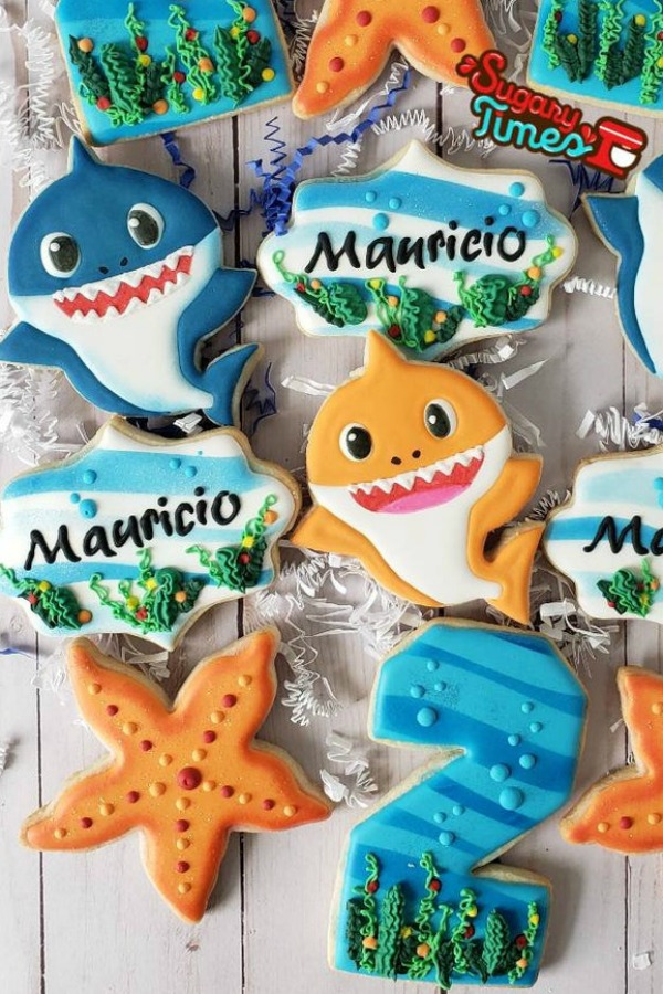 Mix of Baby Shark Cookies