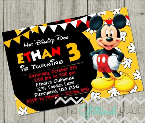 Fun Mickey Mouse Birthday Party Invitation