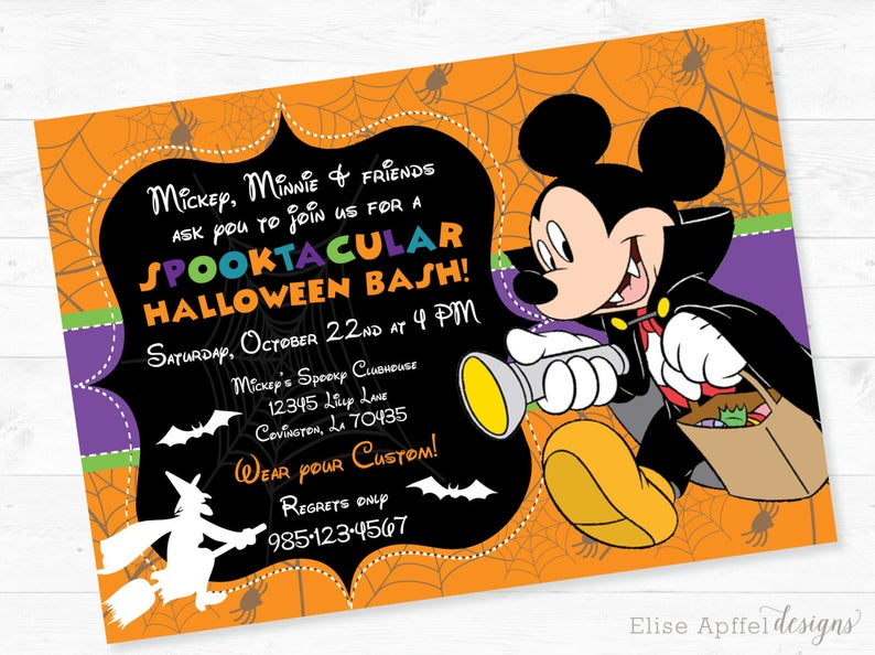 Mickey Mouse Halloween Party Invitation