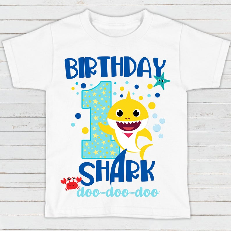 Baby Hark 1st Birthday T-shirt