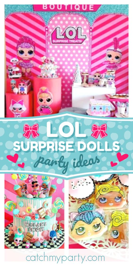 LOL Surprise Dolls birthday party | CatchMyParty.com