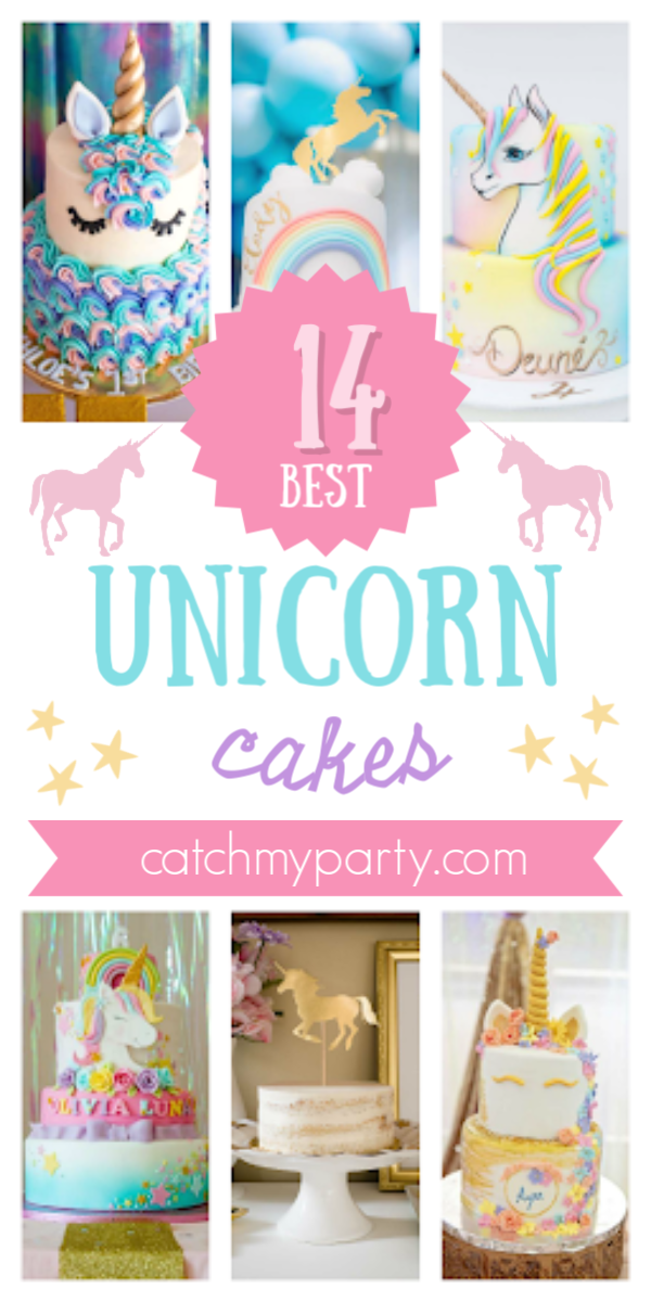Collage of the 14 Most Magical Unicorn Cakes!