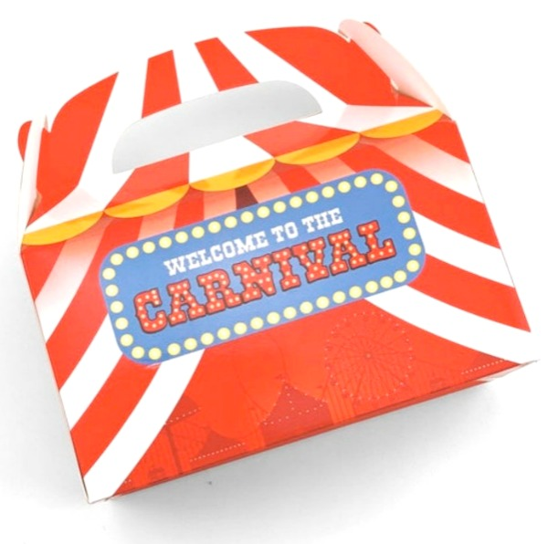 Carvival Tent Party Favor Box