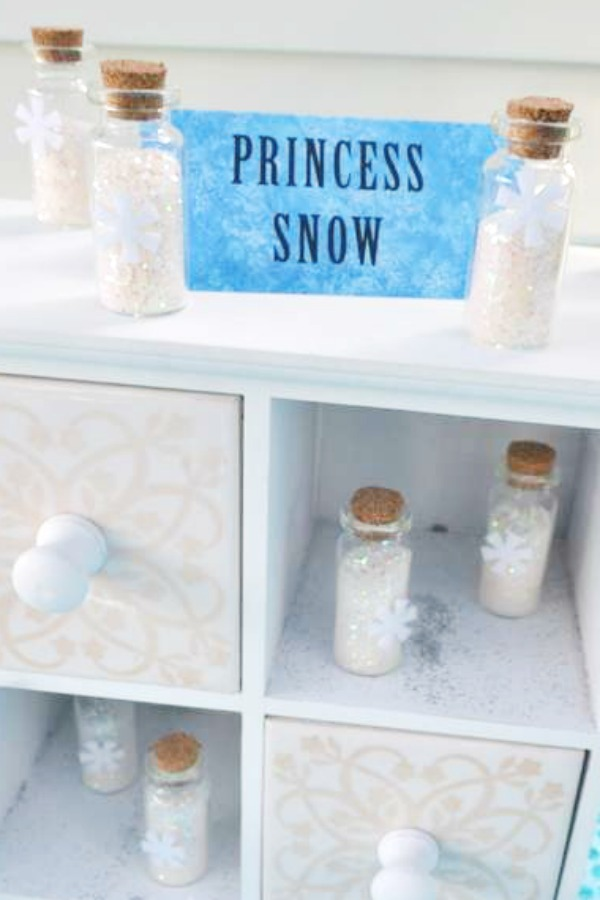 Little GLass Bottles of Magic Princess Snow