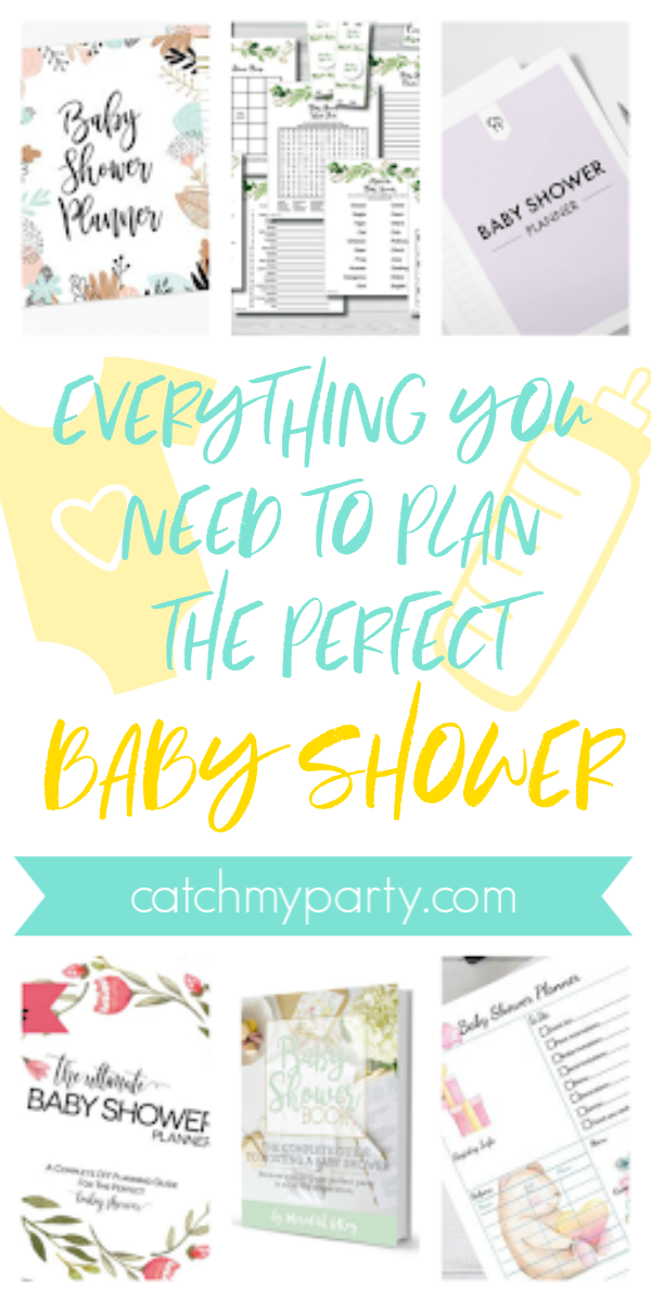 Collage of Everything You Need to Plan the Perfect Baby Shower!