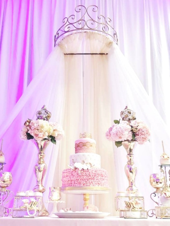 Pink Princess Quinceanera Birthday Party