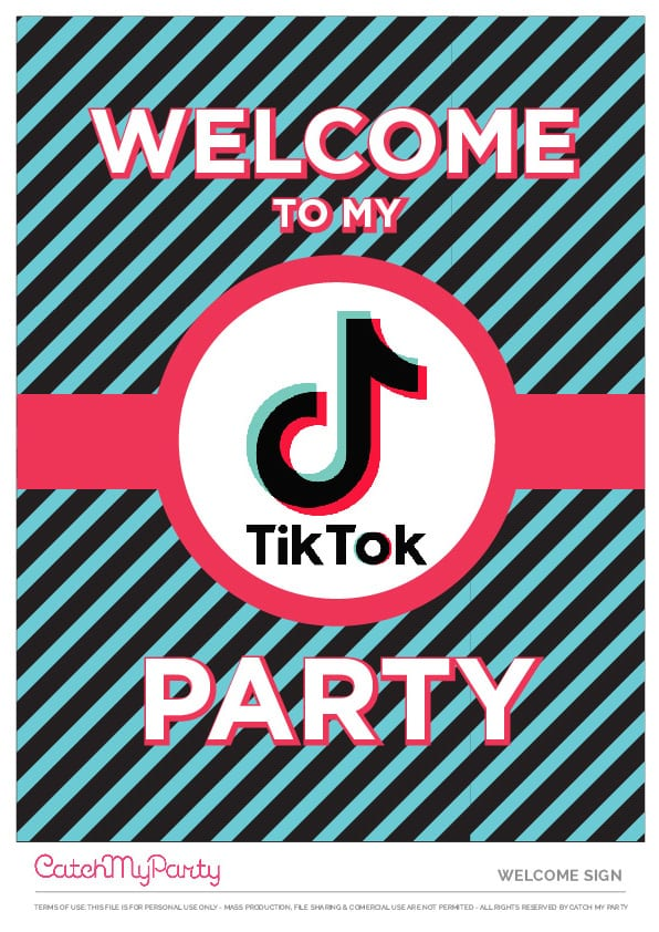 Free TikTok Welcome Poster