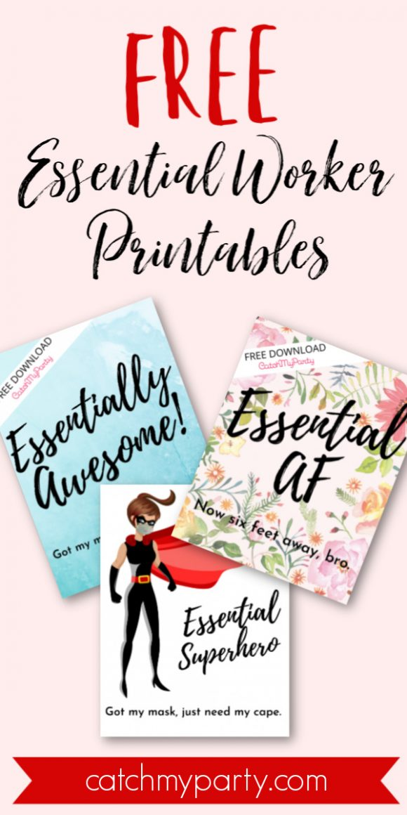 Fun Free Essential Worker Printables