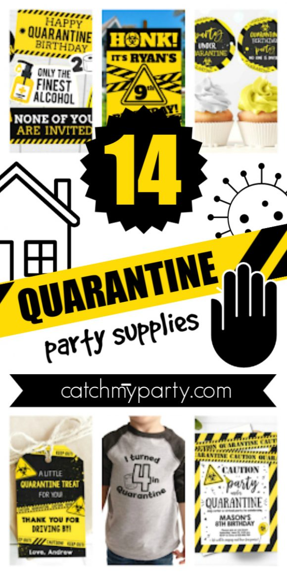 Collage of the 12 Best Quarantine Party Supplies!