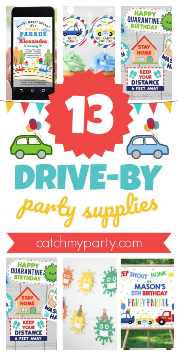 Check out the Most Amazing Drive-By Party Supplies!