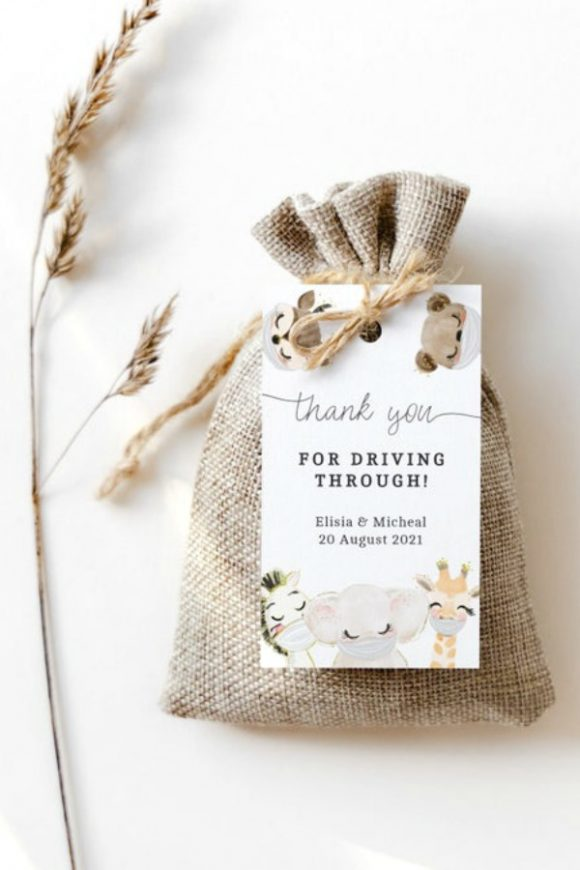 Drive-By Baby Shower Party Favor Tags
