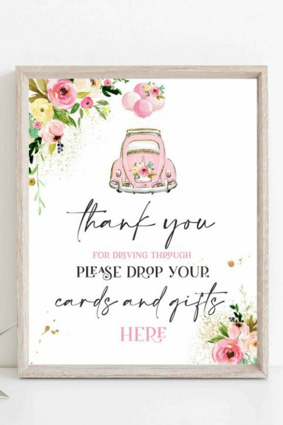 'Cards and Gifts'Drive-By Baby Shower Sign