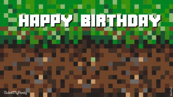 Download a FREE MinecraftVirtual Party Background for Zoom