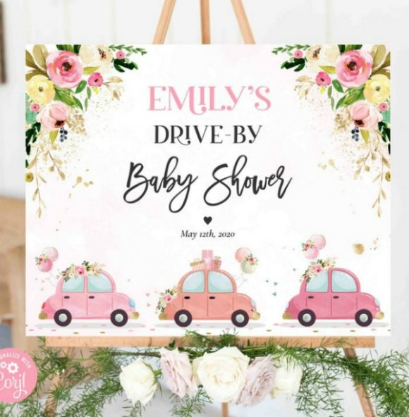 Drive-By Baby Shower Party Sign