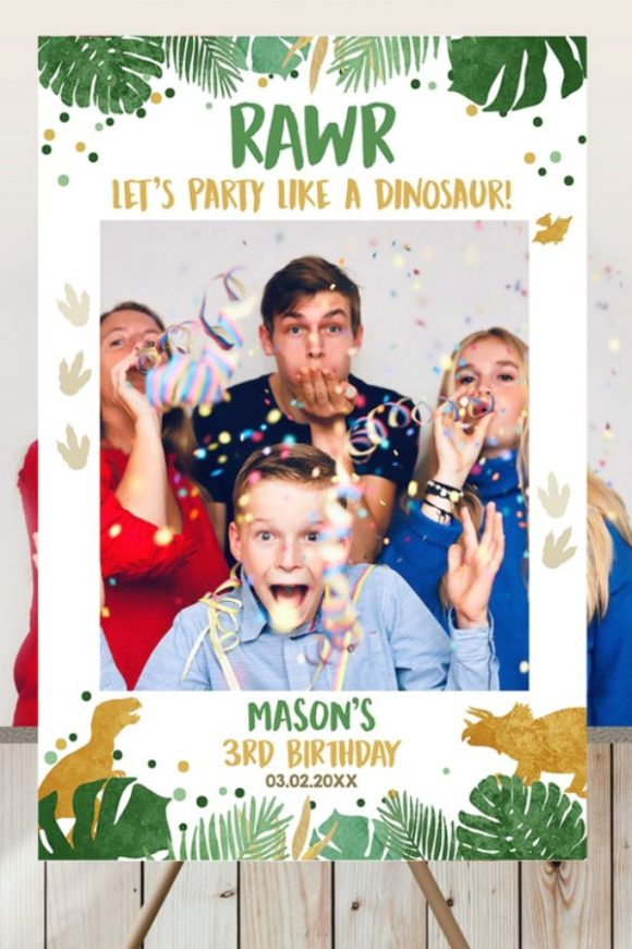 Dinosaur Photo Booth Frame