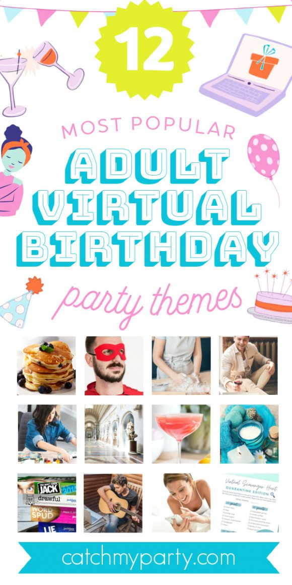 Collage About How to Throw a Virtual Birthday Party for Adults