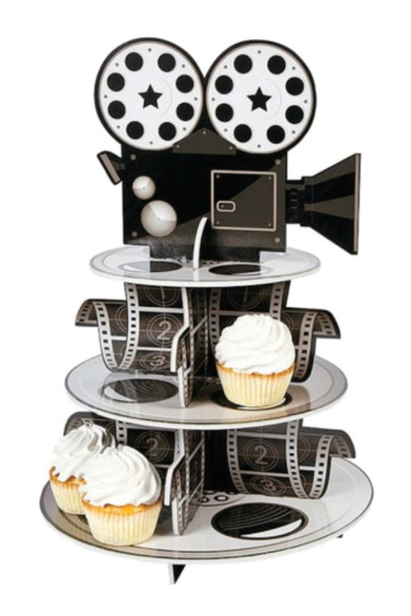 Movie Reel Cupcake Stand