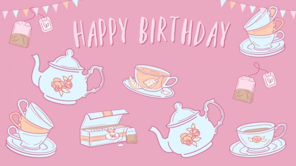Download a FREE Tea Party Background for Zoom