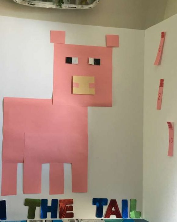 Minecraft Pin the Tail on a Pig
