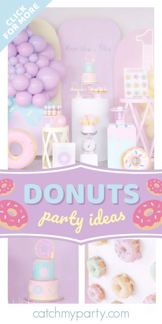 Donuts birthday party