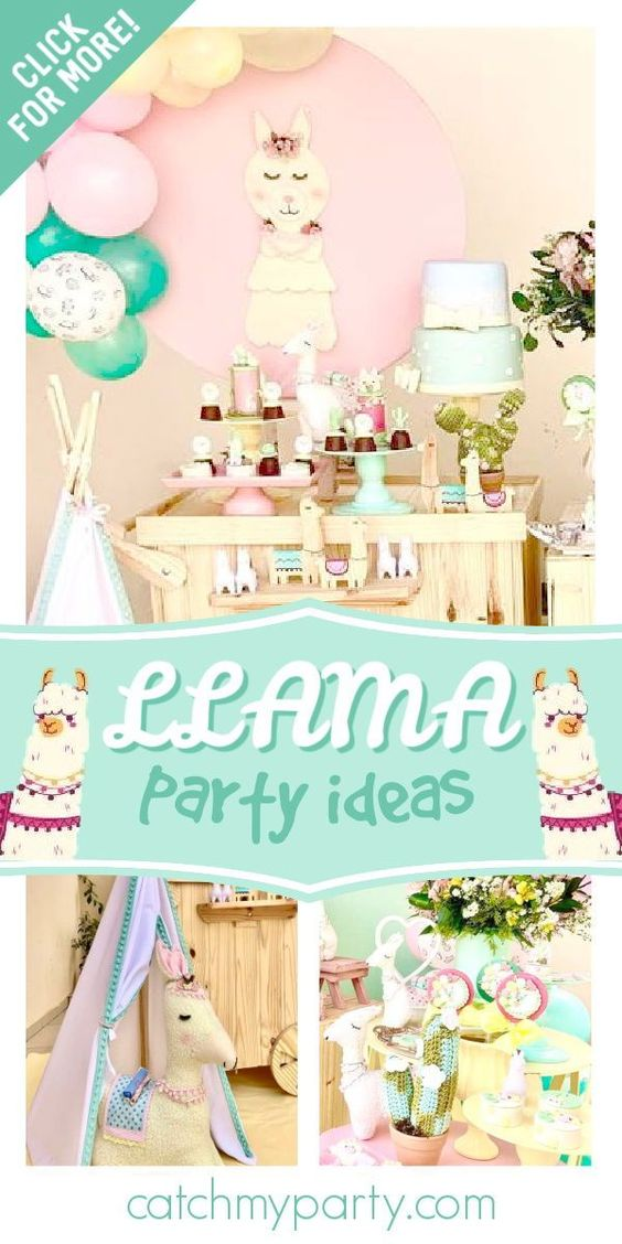 Llama birthday party