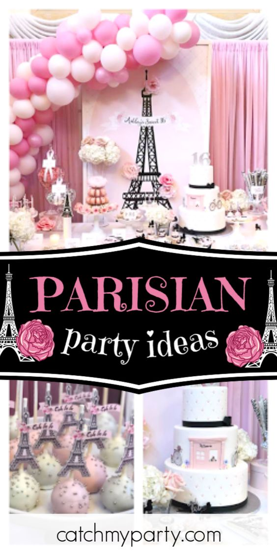 Parisian birthday party