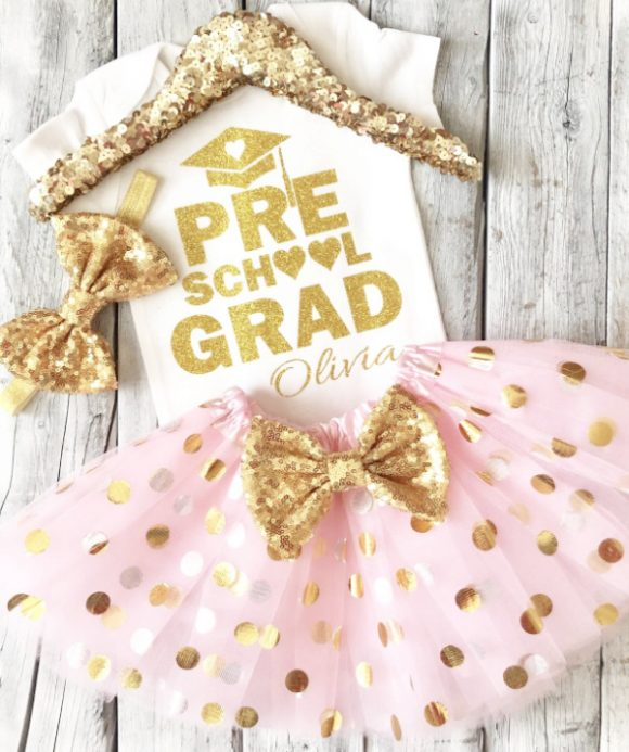 Pretty Preschool Graduation Outfit for a Girl
