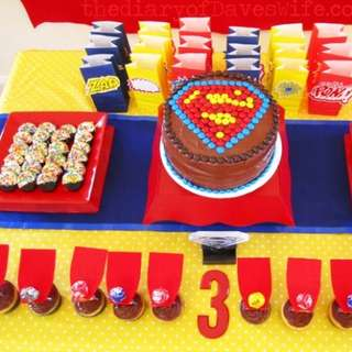 Superman-dessert-table-580x435
