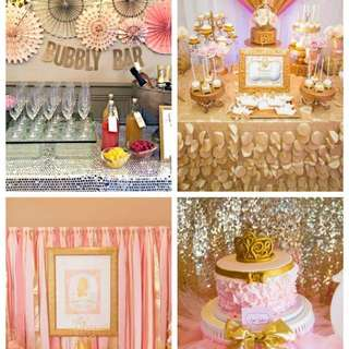 12 Must See Pink And Gold Parties