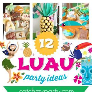 Luau Hawaiian Party Ideas for a Grown Up Birthday | Catch My
