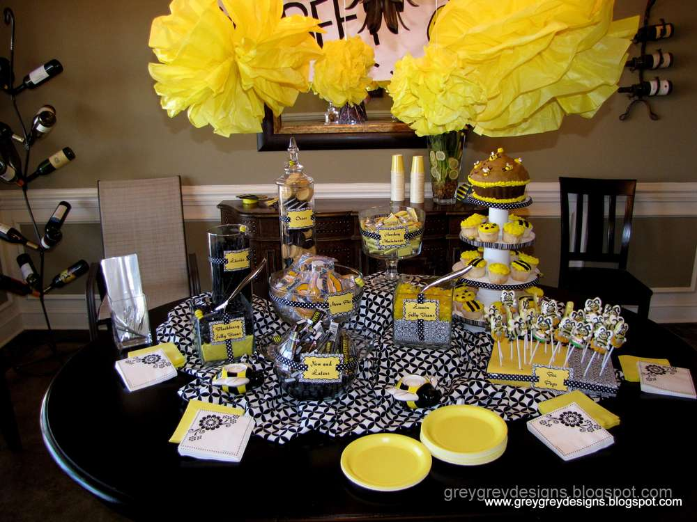 Bumblebee Gender Reveal Party Ideas Photo 1 Of 11