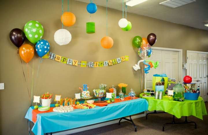 Orange, Blue, Green Birthday Party Ideas | Photo 2 of 22 | Catch ...