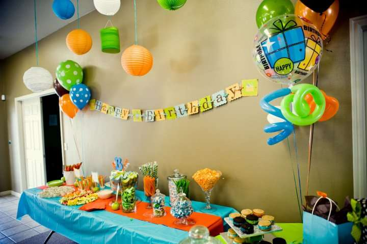 Orange, Blue, Green Birthday Party Ideas | Photo 3 of 22 | Catch ...