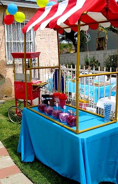 Circus birthday party ideas photo 3 of 20 catch my party - Food booth ideas ...