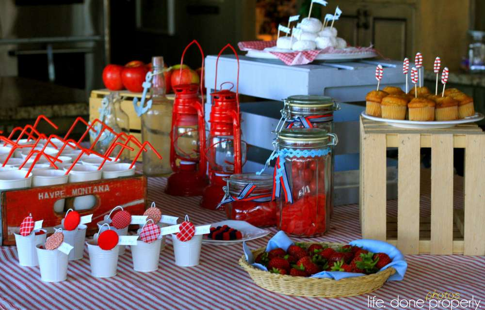 nautical baby shower party ideas photo 1 of 9 catch my party